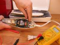 An electric knife is simple to repair.