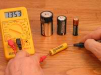 It's easy to test small batteries that power dozens of small appliances and toys.